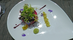 Beetroot couscous at Valldemossa
